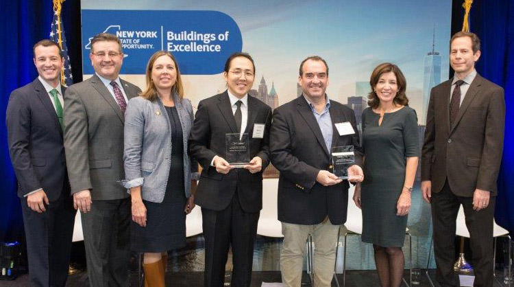 Members of the Tree of Life team accept the 2019 Building of Excellence Award.